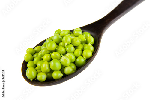 Fresh raw green peas