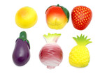 object on white - magnet- fruit and vegetables poster