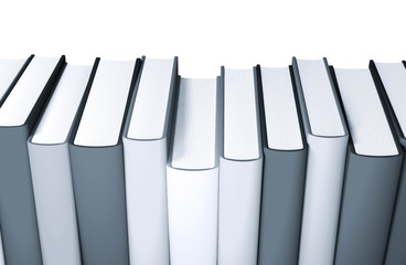 3d colored books massive for design