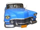 voiture bleu bond blanc poster