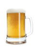 Beer mug with froth isolated over a white background
