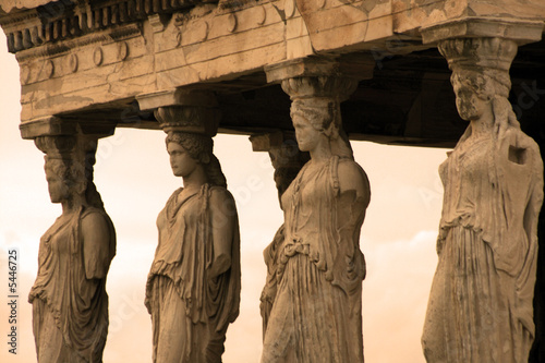 Staande foto Athene Athens, Greece - Caryatids, sculpted female figures