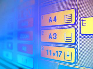 écran imprimante