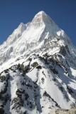 High mountain peak poster