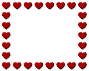 Red Hearts Frame