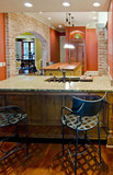 large luxury kitchen in tuscan style poster