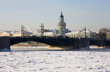 The Cabinet of Curiosities behind the bridge, Saint-Petersburg