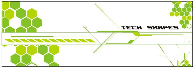composicion abstracta tecnologica en vector