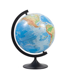 Terrestrial globe isolated