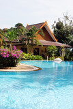 Fototapety Tropical spa resort with pool in Phuket, Thailand.