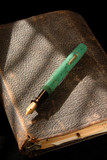 Vintage Fountain Pen And Old Notebook Looseleaf Binder poster