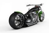 biciclete macho personalizate sau motocicleta din vedere din spate