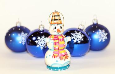 Christmas baubles snowman © Masonic