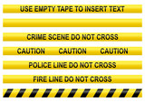 Fototapety Police line tapes with a blank one to insert your own text