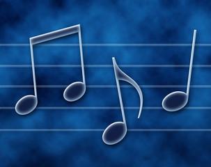 Note musicali sul pentagramma