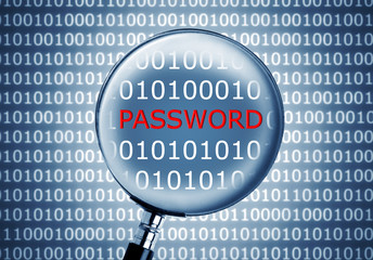 password in a binary code