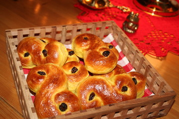 "Swedish cakes ""Lusse-cats"" for Santa Lucia´s day"