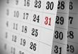 Leinwanddruck Bild - Open calendar