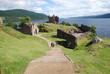 Leinwanddruck Bild - Urquhart castle - loch ness