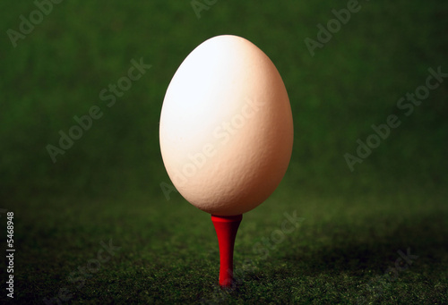 Pegged egg for careful hitting when glofing