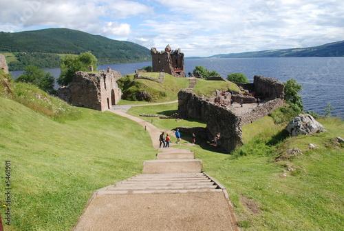 Leinwanddruck Bild Urquhart castle - loch ness