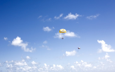 Parasailing between the clouds