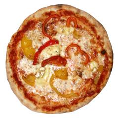 Pizza peperoni e brie