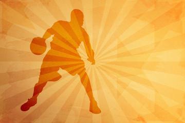 Vecchia cartolina sportiva - Basketball