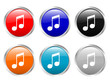 glossy buttons music