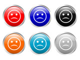 glossy buttons angry face poster