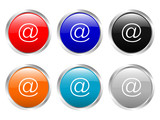 glossy buttons e-mail poster