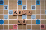 Spelling Game says Help Me poster