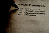 Business strategy analysis concept. SWOT analysis poster