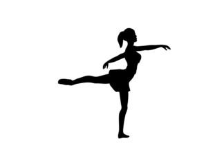 Silhouette of a ballet dancer.