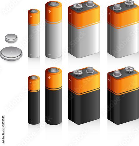 Lot de piles variées, image vectorielle - 5476745