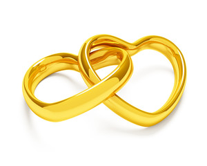 Heart shaped rings
