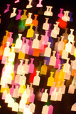 bokeh series - bottles2. abstract colorful background poster
