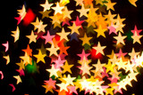 bokeh series - stars, abstract colorful background poster