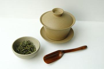 China tea-set isolated on white background