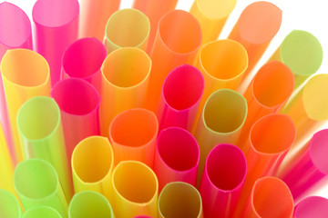 multi-color party drinking straws
