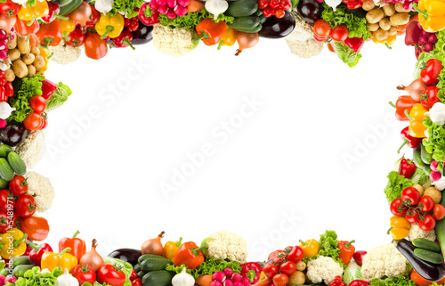 Colorful vegetable frame
