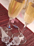 Two flutes of Champagne for New Year