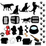 Pet Dog Silhouette Objects poster