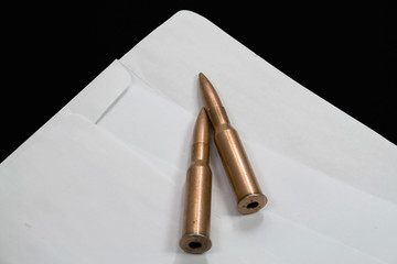 bullets in an envelope inside