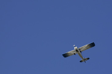 aircraft flying overhead after takeoff