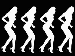Dancing Women silhouette