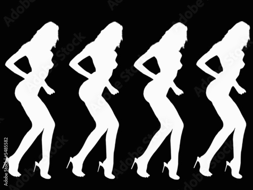 Dancing Women silhouette