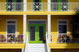 Nice image of two story southern House front Porch poster