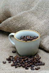 coffees beans in cup