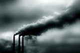 Image of pollution coming from Power Plant in America poster
